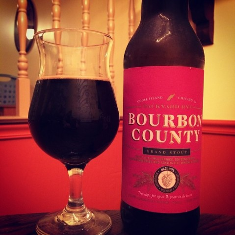 Bourbon County Backyard Rye beer review 0573: goose island backyard rye bourbon county brand